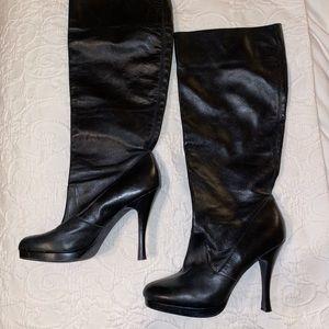 BCBG Genuine Leather Boots